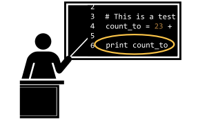 Open clipart image of teaching code